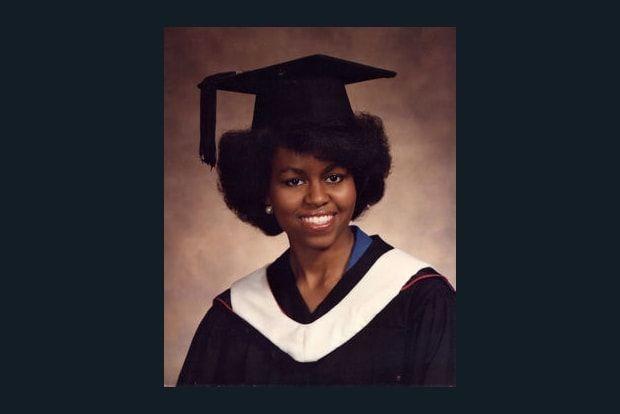 Michelle Obama étudiante