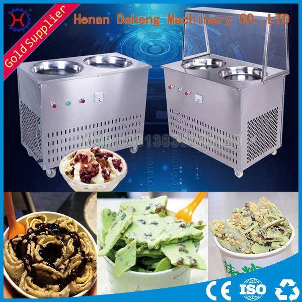 Single Pan Thailand Roll Fried Ice Cream Machine Ice Cream Cold