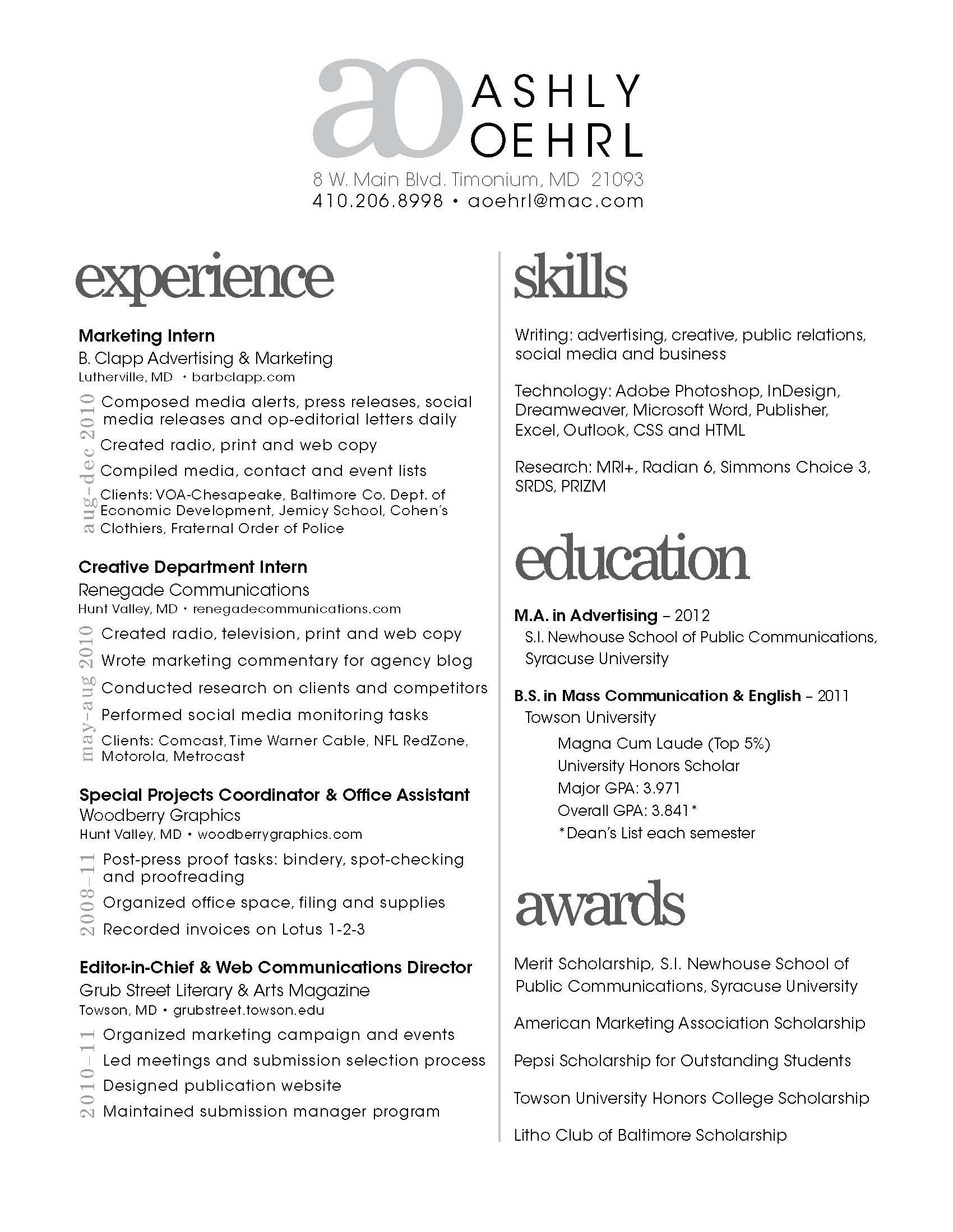 simple resume designs