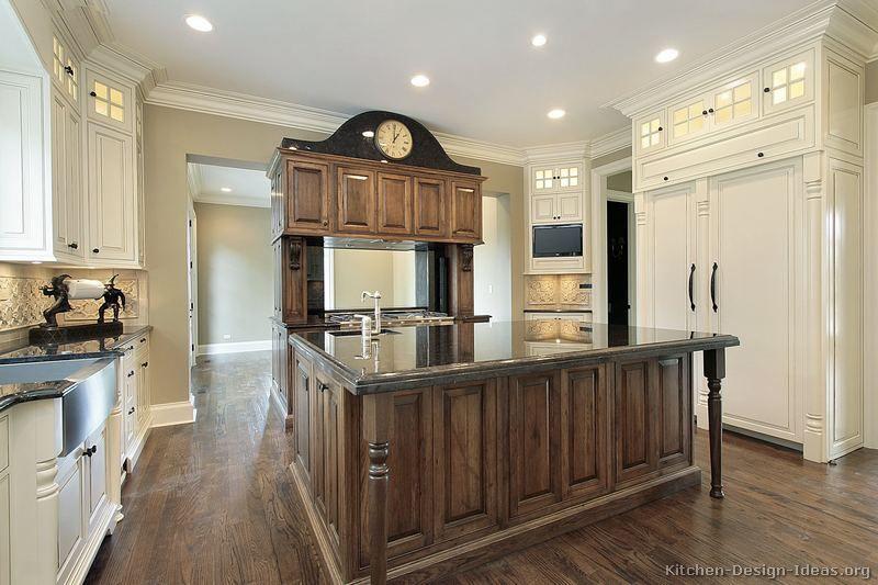 Antique Kitchen Design Traditional Medium Woodbrown Kitchen Cabinets #tt159 Kitchen