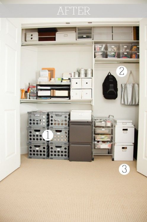 office closet shelving. Office / Craft Inspiration - Boxwood Clippings_office Closet After Go To Site See Before Shelving I