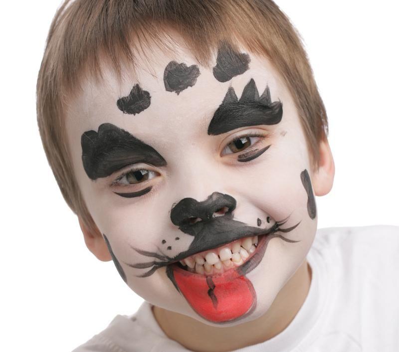 Grimtout, maquillage à l\u0027eau, dalmatien étape 3