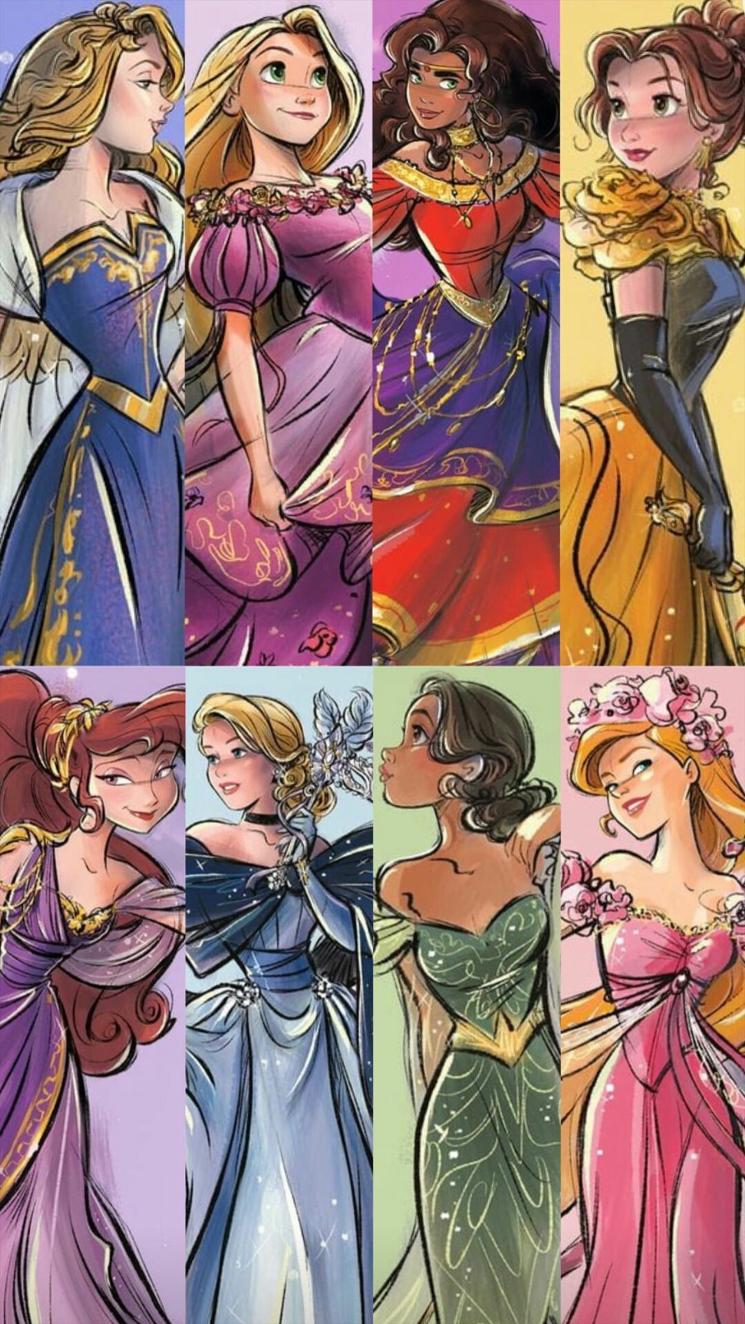 pinterest // simplygrace101 Disney princess drawings