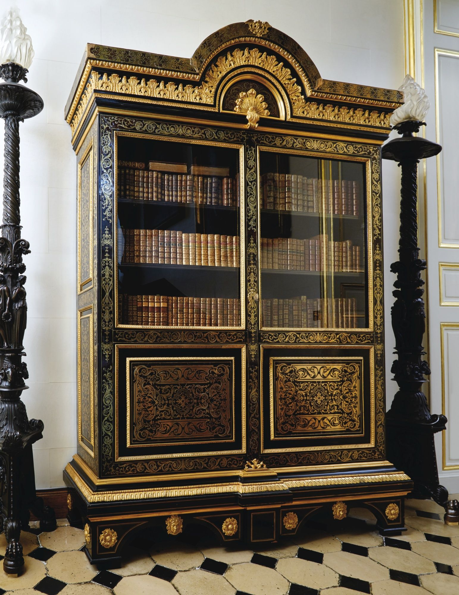 Meuble Mourey A Gilt Bronze Mounted Tortoiseshell And Brass Marquetry