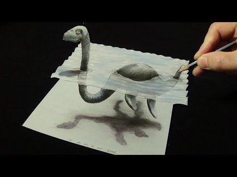 Desenho Grande Tubarao Branco Em 3d Desenho Artistico Magico