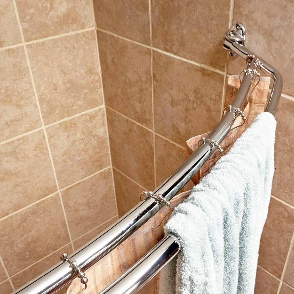 Curved Shower Curtains Rods Quick Home Upgrades That Deliver Big Results The Bathroom Home