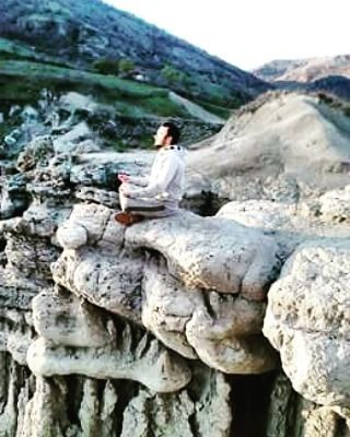 #meditation #sunset #yoga #nature #stones#peace by cosmic__prince