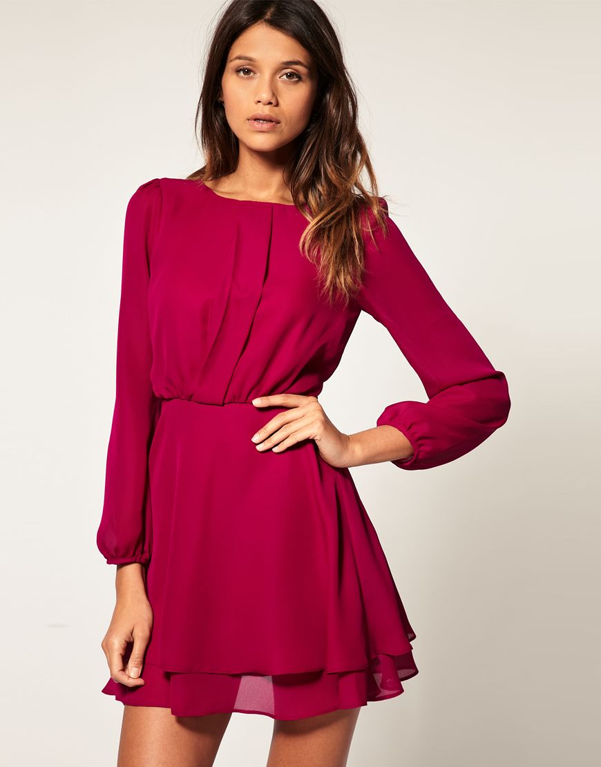 Mini dress with double layer skirt mini dresses layering and minis