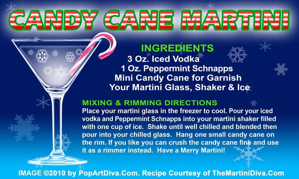 CANDY CANE CHRISTMAS MARTINI recipe on a Free Recipe Card - Click ...