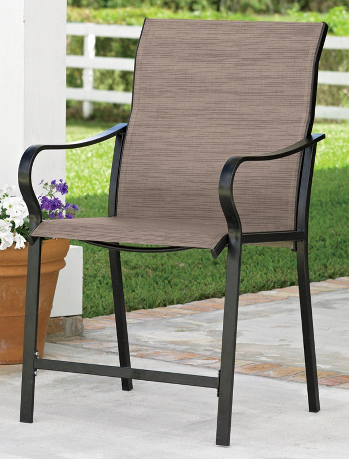 Extra-Wide High-Back Patio Chair - Extra-Wide High-Back Patio Chair Extra Wide Portable Chairs