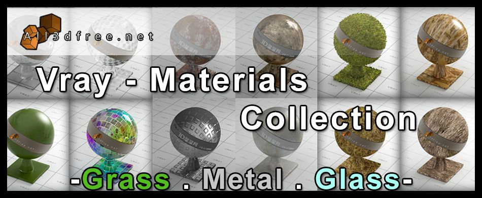 Vray Material For 3dmax Free Download 2018 Grass Glass Metal