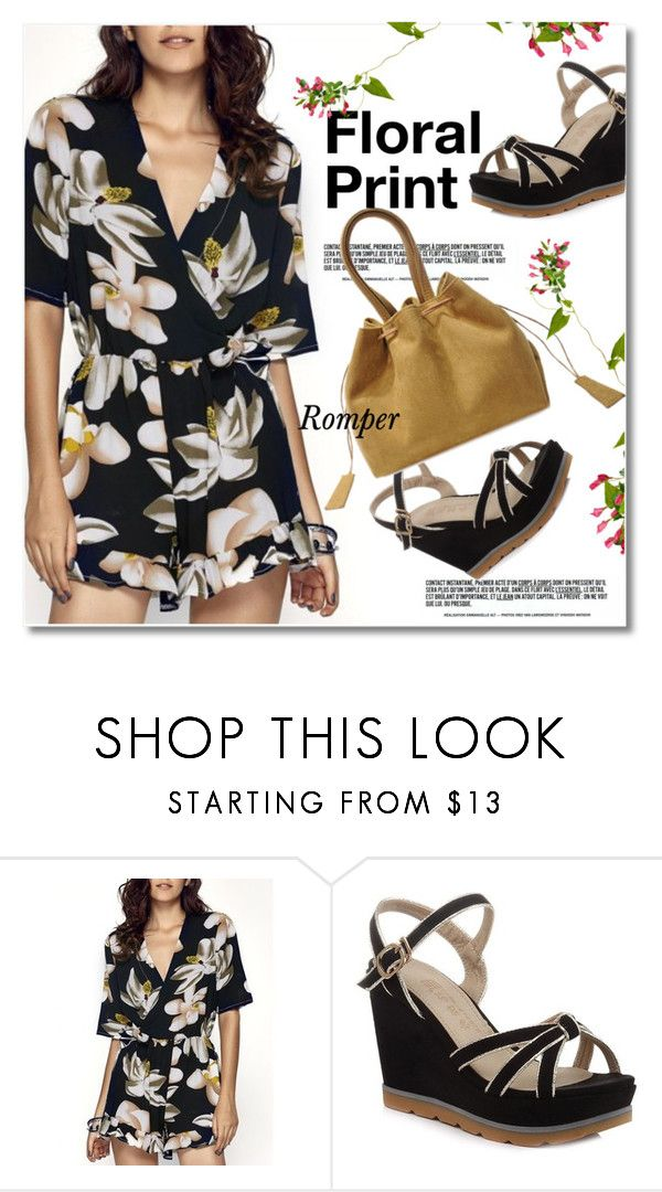 """""""Floral print - Romper"""" by svijetlana ❤ liked on Polyvore featuring vintage, romper, polyvoreeditorial and twinkledeals"""