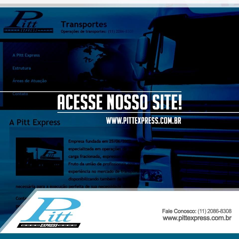 Acesse nosso site e conheça todos os serviços que oferecemos para sua empresa:  http://www.pittexpress.com.br/index.html