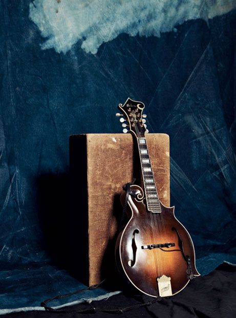 "Sam Bush's mandolin, ""Little Joe,"" just before a show at the Pour House, in Charleston, South Carolina.    Photo by Sully Sullivan"