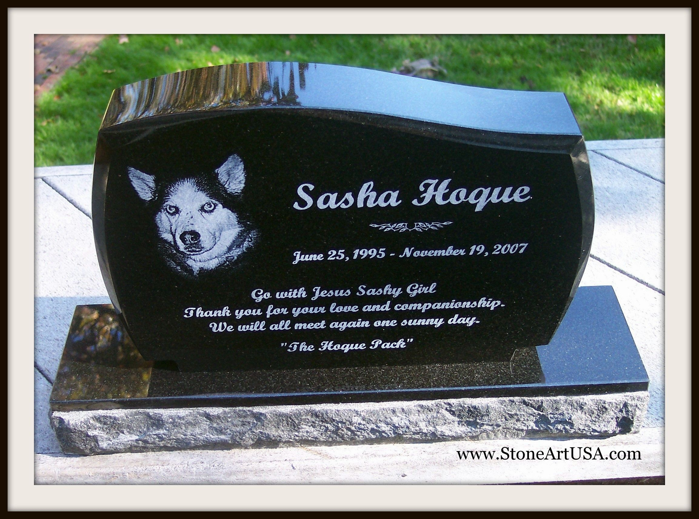 R I P Sasha New Ideas For Pet Grave Stones Custom