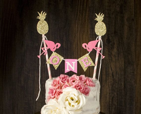 One Flamingo Cake Topper Smash Cake By Glitzandbowsbyjackie