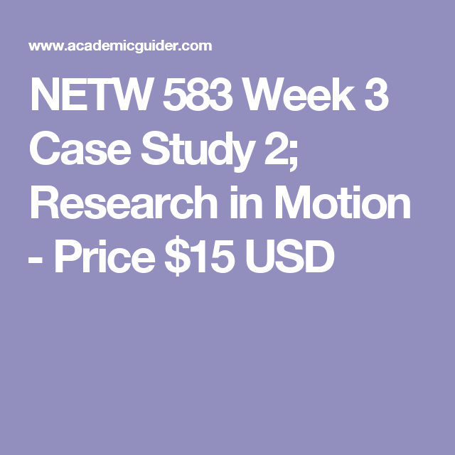 research in motion case study