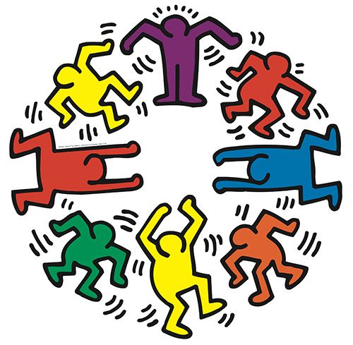 Keith haring pinterest for Keith haring figure templates