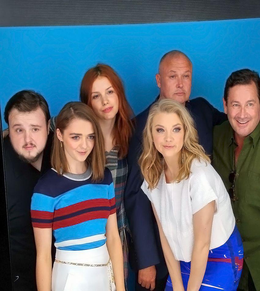 John Bradley, Maisie Williams, Hannah Murray, Natalie Dormer, Conleth Hill, David Nutter - 'Game of Thrones'
