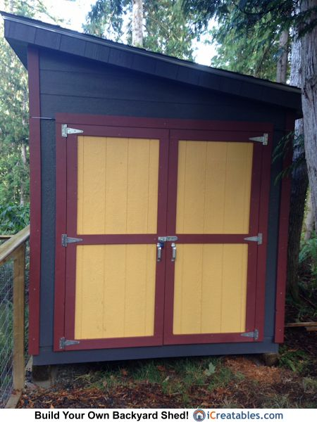 8x8 Lean To Shed Built In British Columbia By Icreatables Com