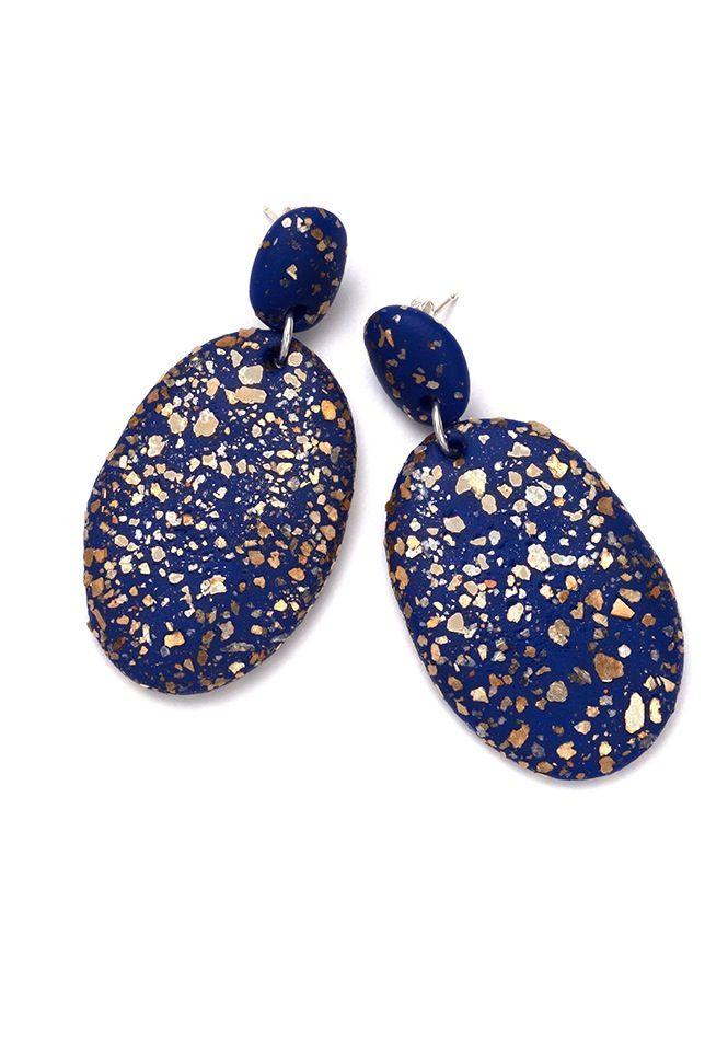 Image of Cobolt Blue Terrazzo Drop Earrings