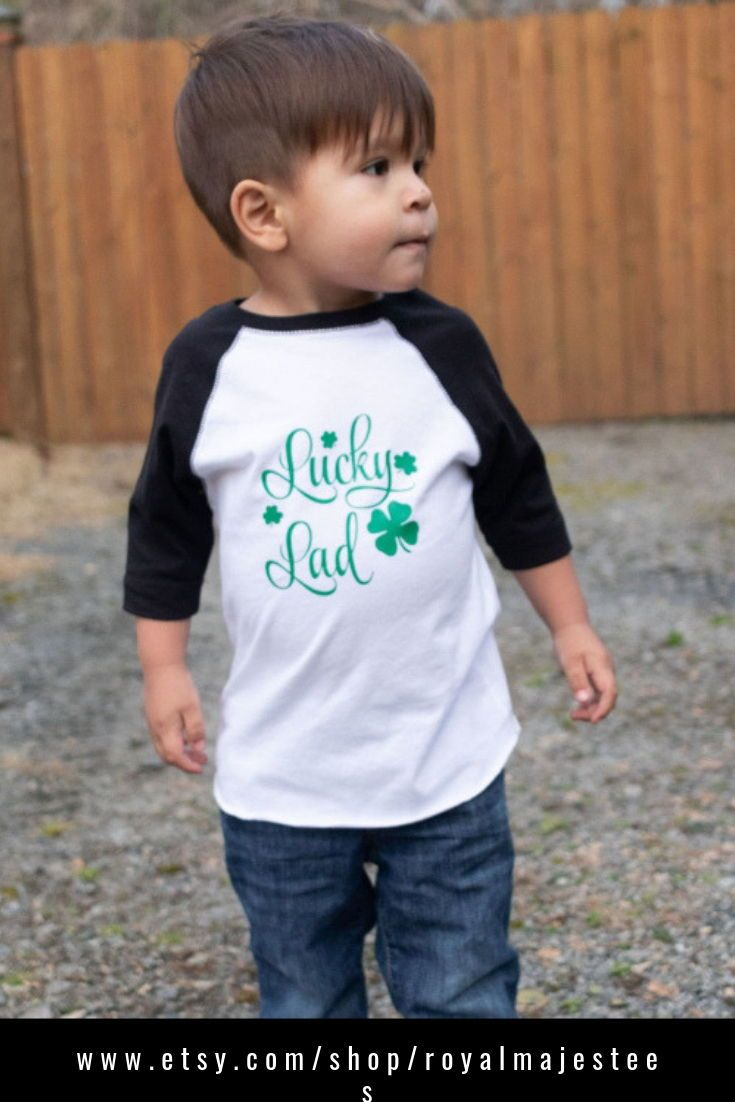 8efec9a4119 Boys Lucky Lad St Patricks Day Shirt in 2019