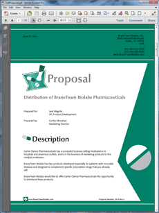 Pharmaceutical Product Sales Sample Proposal  The Pharmaceutical