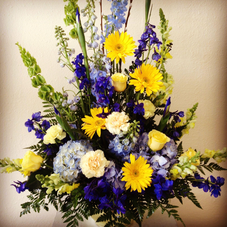Funeral flower arrangement for san diego chargers fan floral funeral flower arrangement for san diego chargers fan dhlflorist Gallery