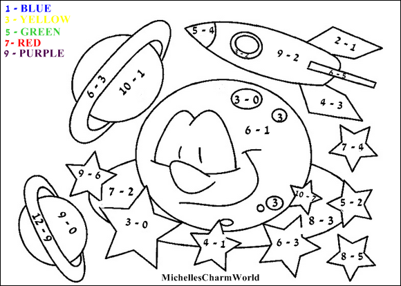 Michelles Charm World Fun with Learning Education1 – Addition Colouring Worksheets