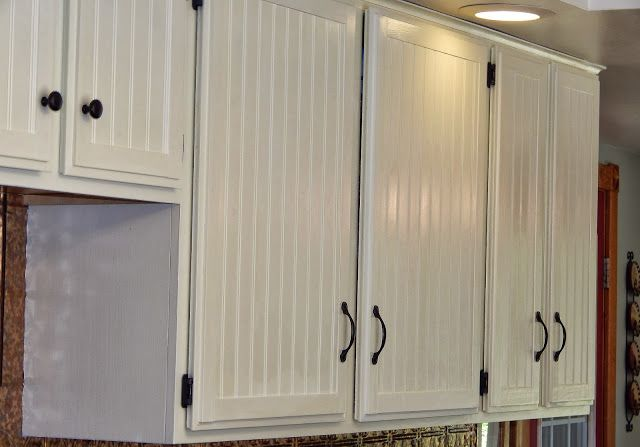 Our Kitchen Cupboards Transformed Beadboard Kitchen Beadboard Kitchen Cabinets Kitchen Cupboards