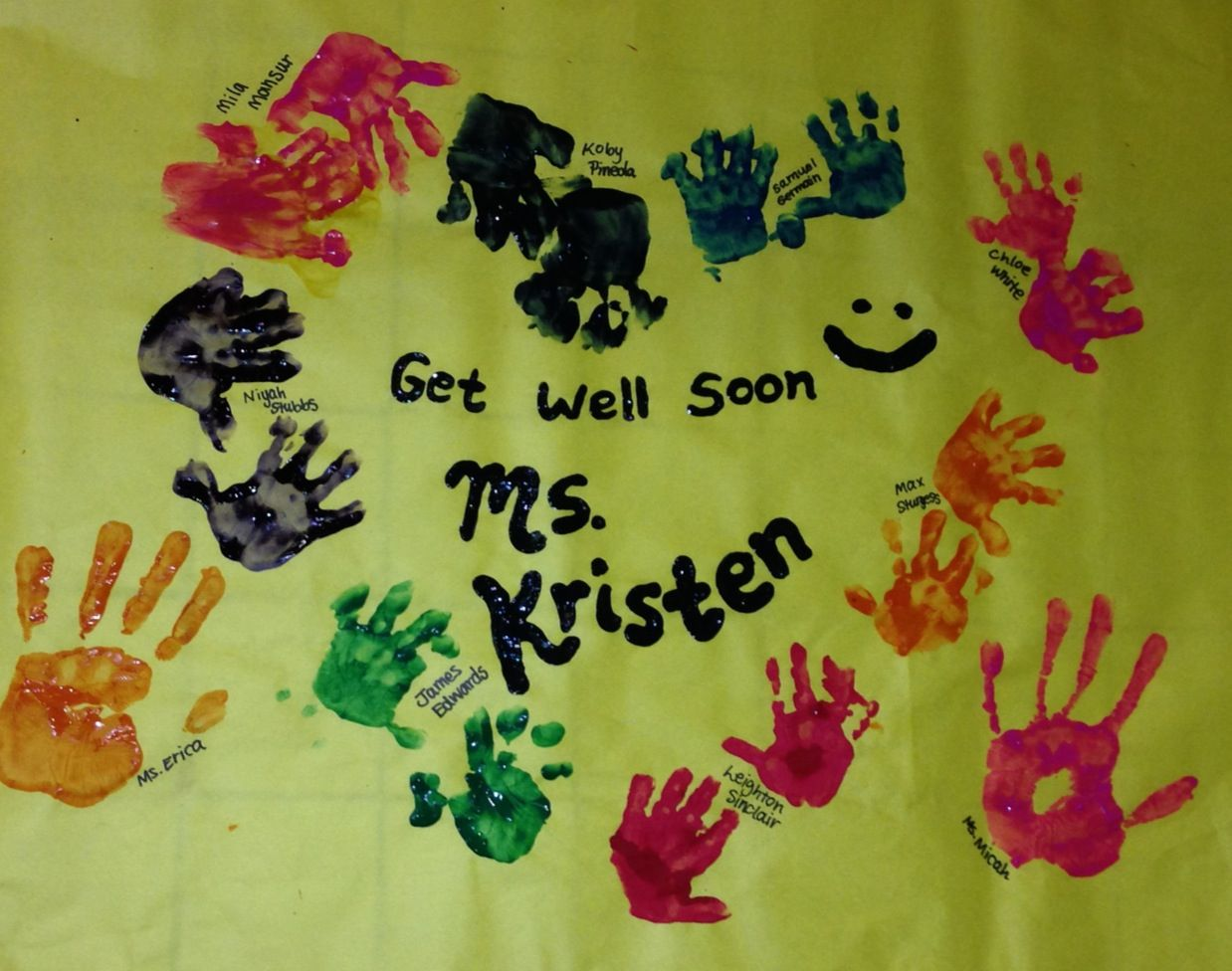 get well soon posters done by 1 year olds toddler crafts