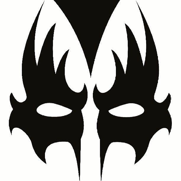 Kiss Makeup Stencils Mugeek Vidalondon Kiss Band Makeup