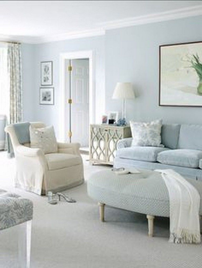 38 Cool Trendy Paint Colors For Minimalist Houses Housedesign Housepainting Homedesignideas Light Blue Living Room Living Room Paint Blue Walls Living Room