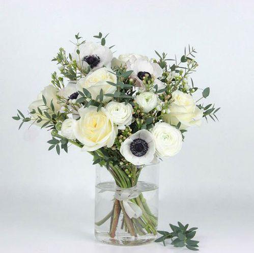 Bouquet de fleurs blanches bergamotte green pinterest for Bouquet fleurs blanches