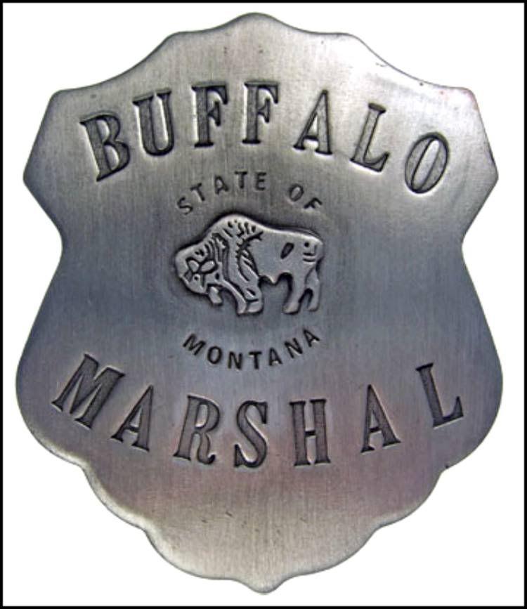 Badge: Buffalo Marshal Police Montana Lawman Old West