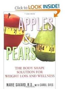 bf6ac9dee3 Apples And Pears  The Body Shape Solution For Weight Loss   Wellness by Dr.  Marie Savard gives you detailed nutritional and workout recommendations  based on ...