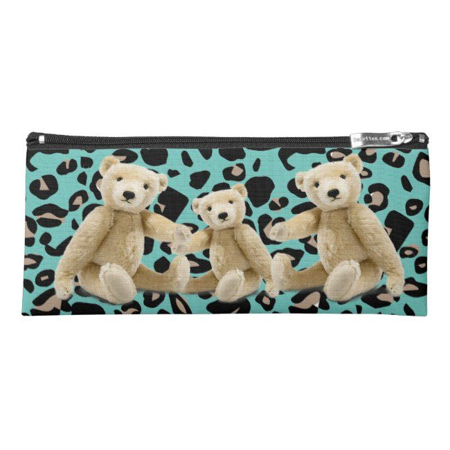 Teddy Bear Toy Friend Pencil Case #stone #milkanna #couple #teddy #bear #PencilCase #cats #catlover #ilovemycat #fatcat #funnycat #cartooncat #tabby #domesticshorthair #feral #animallover #christmascat #kitty #meow