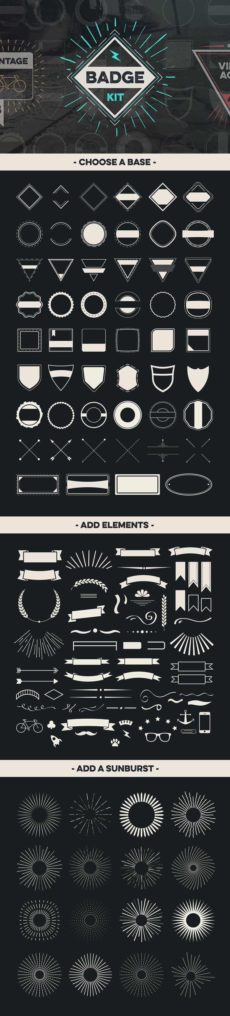 Badge Creator Kit Vol Template EPS AI Logo Templates - Badge maker template