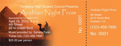 make arabian night theme prom tickets parties and projects