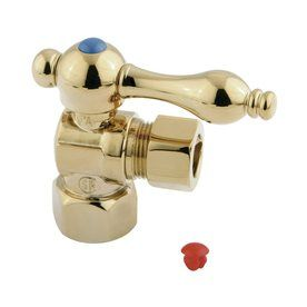 Elements Of Design Polished Brass Quarter Turn Angle Valve Ecc44402