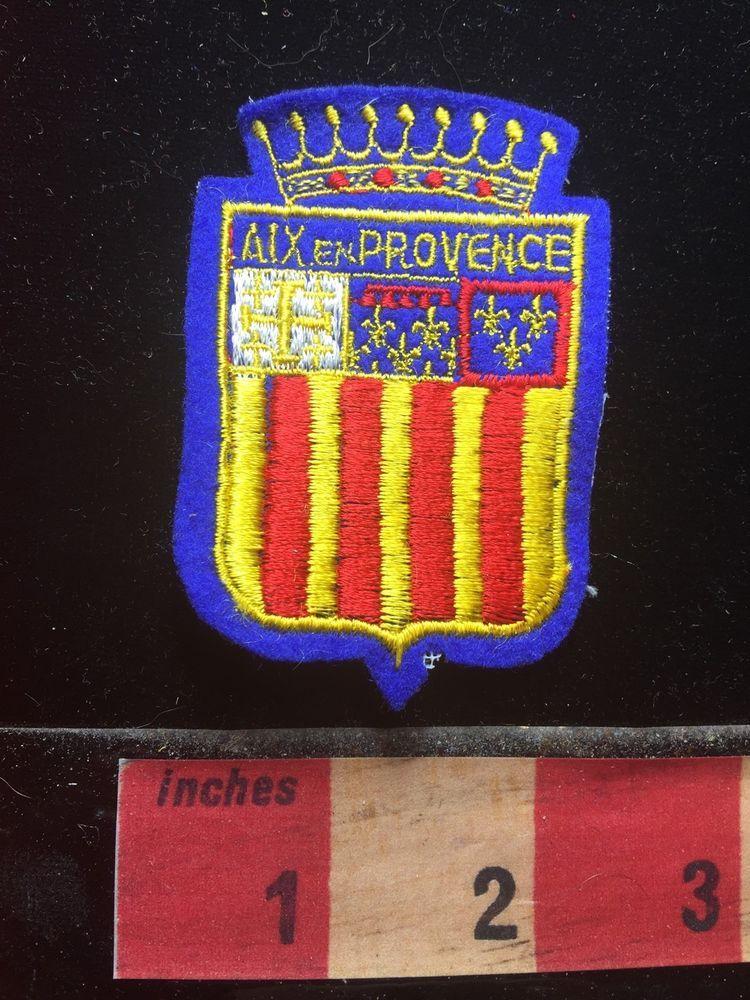 Vtg+AIX+EN+PROVENCE+FRANCE+Jacket+Patch+French+Travel+Souvenir+71Q6+ $7.59