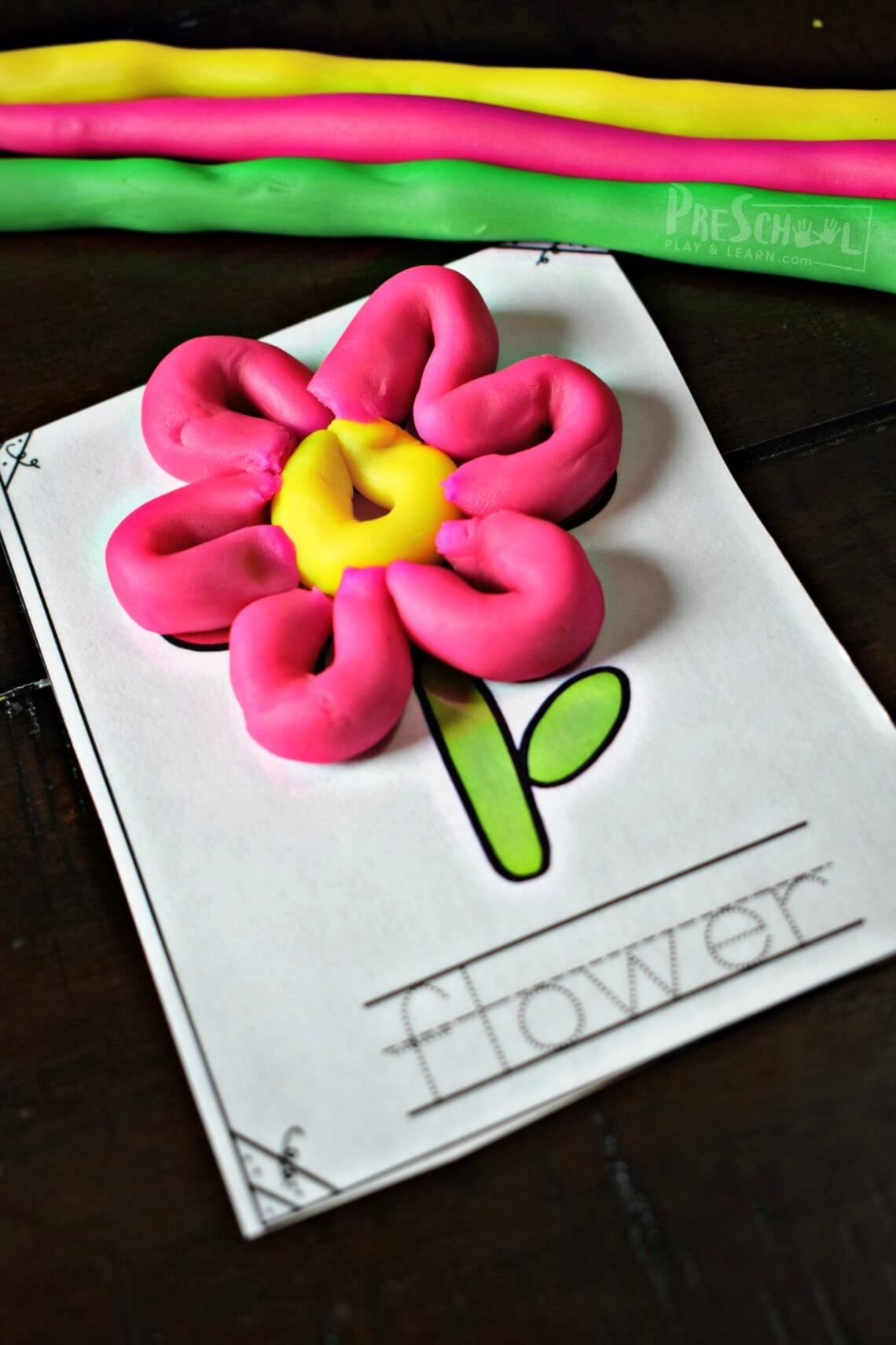 Super Cute Free Playdough Mats With Spring Pictures For