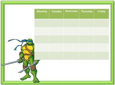 free} printable Ninja Turtles Reward Charts Printables - free printable reward charts for kids
