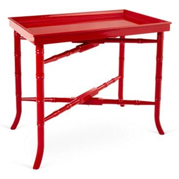 Check Out This Item At One Kings Lane Jackie Tray Table Red Red Tray Table Selling Furniture Tray Table