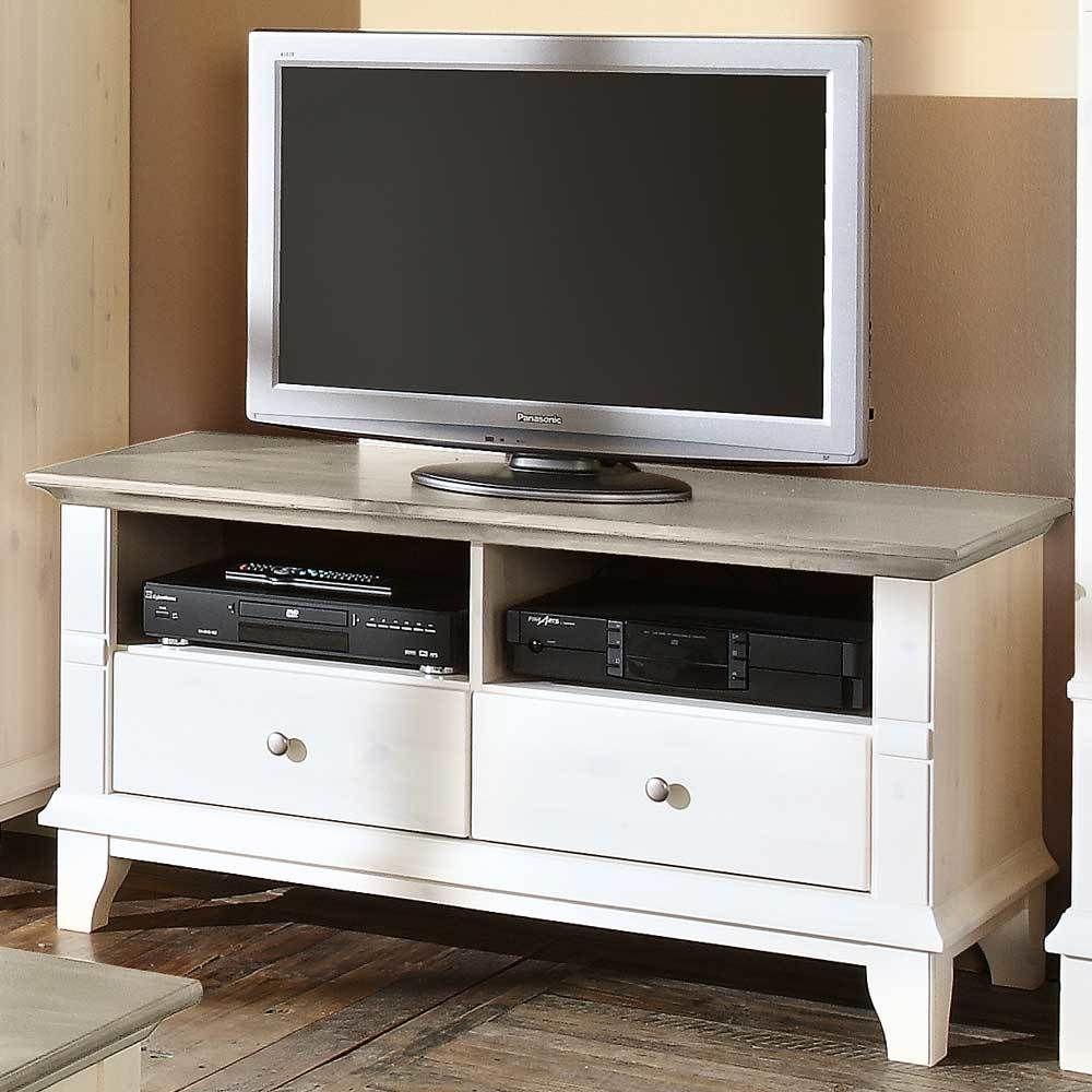 TV-Tisch in Weiß-Grau Jetzt bestellen unter: https://moebel ...