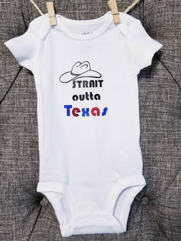 Strait outta Texas Texas baby clothes baby onesie George Strait