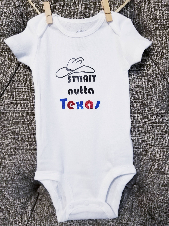 Strait Outta Texas Texas Baby Clothes Baby Onesie