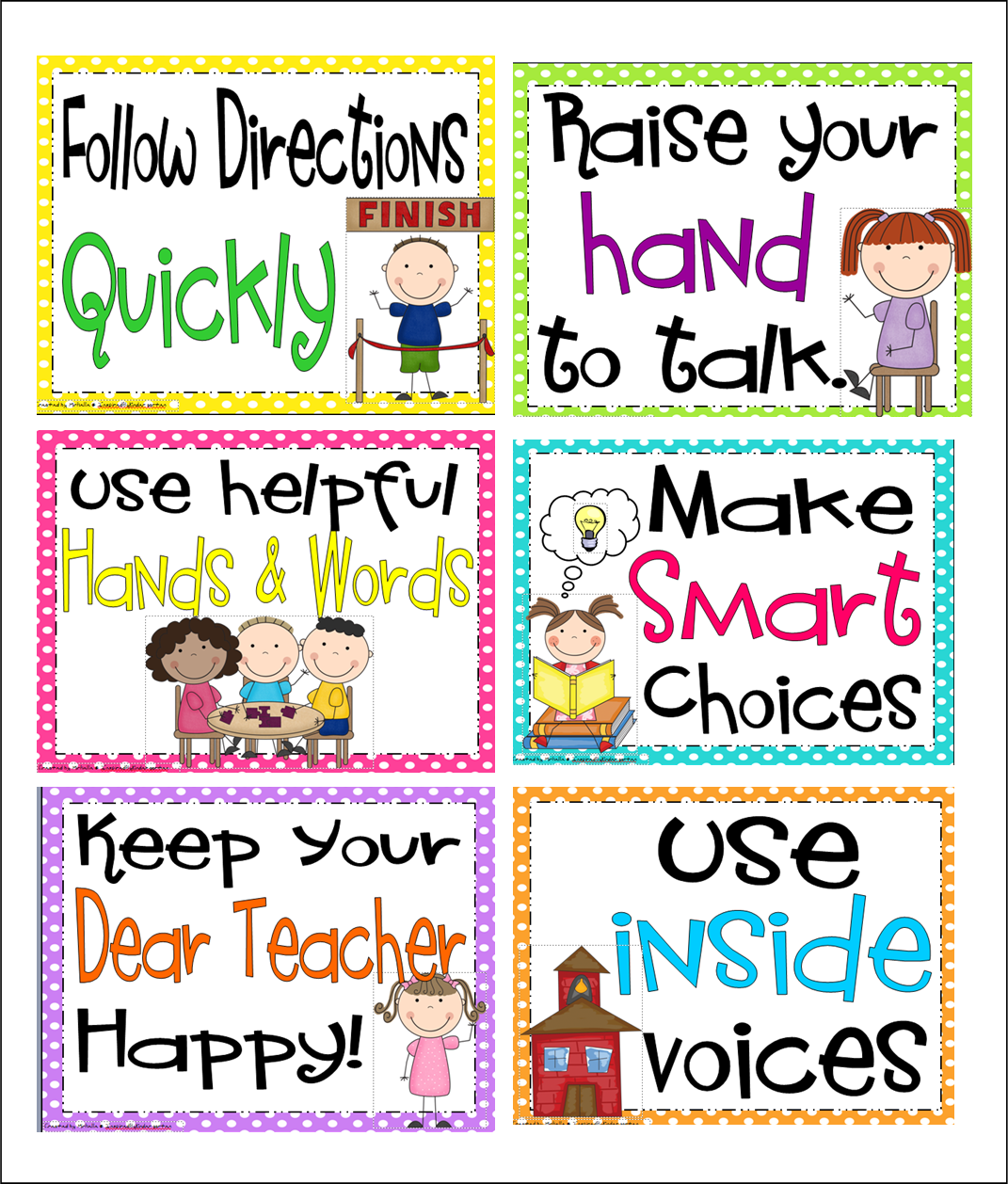Inspired by kindergarten behavior charts   what   going to try freebie pack has the whole brain teaching rules included also rh pinterest