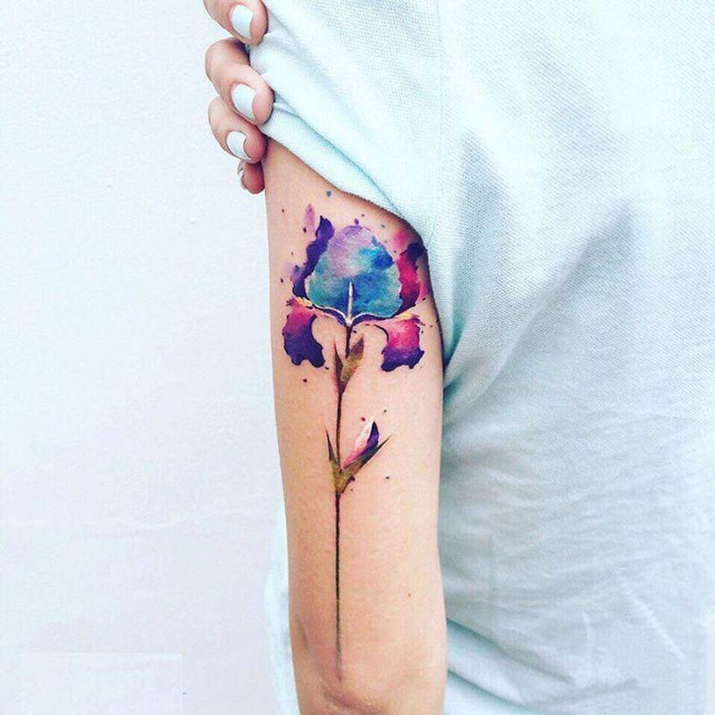 Crimean Artist Pis Saro Creates Wonderful Sketchy Watercolor Tattoos