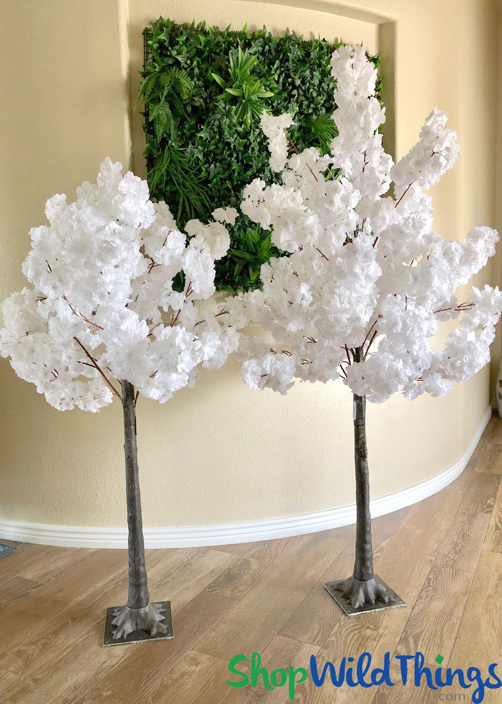 5 Pure White Flowering Cherry Blossom Tree Attached To Heavy Duty Acrylic Base Branches Ben Blossom Tree Wedding Tree Branch Wedding Tree Branch Wedding Arch
